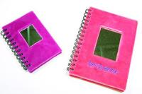 Plush Note Book With Mirror
